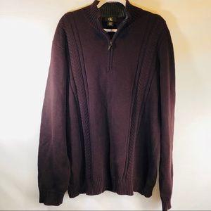 Calvin Klein eggplant color pullover sweater